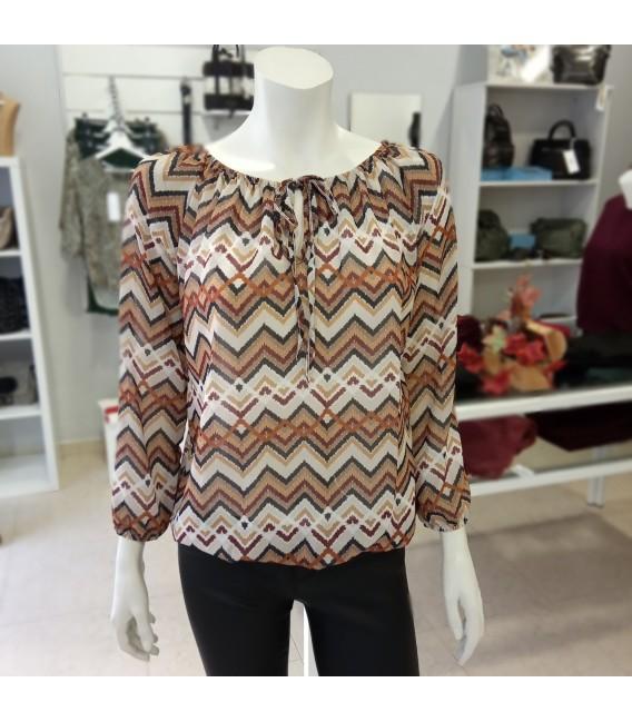 Blusa estampado geométrico Hailys