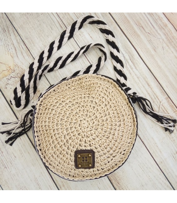 BOLSO REDONDO RAFIA FOR TIME