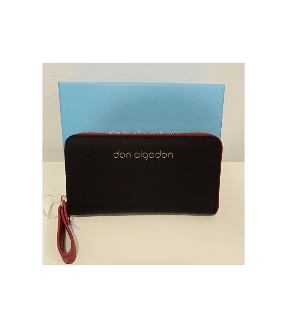 CARTERA NYLON NEGRO DON ALGODON
