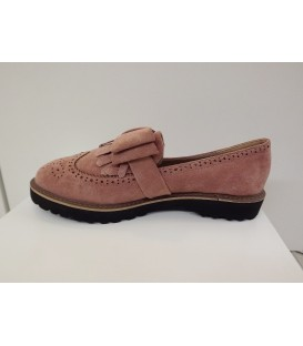 Zapato blucher rosa nude